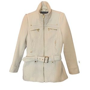 Guess Ivory and Gold accents Pea Coat Medium